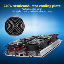 240W Semiconductor Refrigeration Thermoelectric Peltier Cold Plate Cooler Fan JS