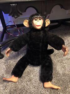 VINTAGE RARE GUND? MONKEY CHIMP PLUSH SLEEPY EYES Zip The Monkey