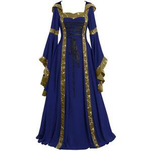 Medieval Renaissance Dress Women's Vintage Halloween Gothic Costume Party Dress