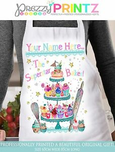 Personalised Apron Womans Superstar Baker BirthdayChristmas Mothers Day Nan Gift