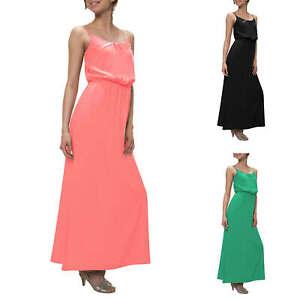Only Damen Maxikleid Trägerkleid Slip Dress Sommerkleid Basic Kleid Color Mix