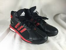 Adidas Men SM Futurestar Boost Basketball Shoes Black/Red Stripe Size 17 New FS