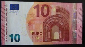 N1 FRANCE 10 Euro 2014, EA-serie UNC, DRAGHI Sign, Printer E001xx