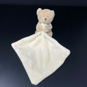 Doudou et Compagnie Tan Teddy Bear Lovey Security Blanket Plush Tan Cream Ivory
