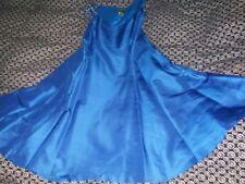 Ralph Lauren sz 12 bright blue silk sleeveless prom evening dress