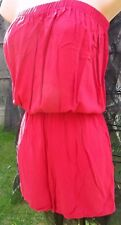 NEXT PINKY RED STRAPLESS SHORTS PLAYSUIT SIZE 8 BNWT