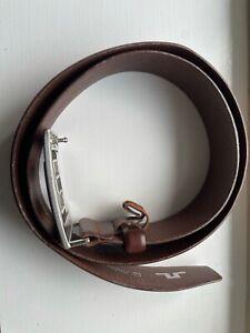 """J.LINDEBERG GOLF Men's Brown Leather Belt 100cm 36"""""""