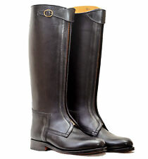 Polo Boot with Front Buckle Straps Leather Horse Riding Boot,2 Colors UK 5-12
