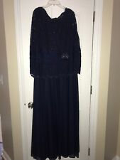 CACHET FORMALNAVY BLUE LONG DRESS SZ 18W