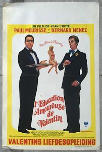 Poster Belgian L'Education Lady Love Valentines Paul Meurisse Bernard Lead