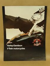 Vtg 1976 AMF Harley Davidson V Twin Motorcycle FX FXE FLH XL XLCH Brochure