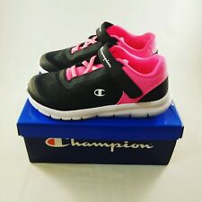 Champion Gusto XT II Sneakers - Girls 12 - Black and Pink - NWT