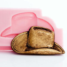 Cowboy Hat Silicone Mold Jewelry Polymer Clay Resin Food Fondant Candy   (925)