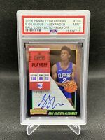 2018 Contenders Shai Gilgeous-Alexander Playoff Ticket /65 Auto Pop 6 No Higher
