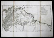 Carte L'Amérique meridionale Jean-Baptiste Bourguignon d'Anville (1697-1782)