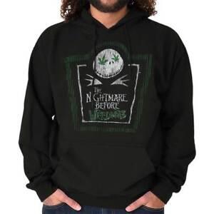 Nightmare Before Weedmas Jack Nineties Movie Adult Long Sleeve Hoodie Sweatshirt