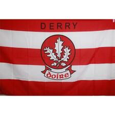 Derry GAA Official 5 x 3 FT Flag - Large Crested Irish Gaelic Football Hurling
