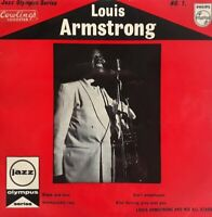 "Louis Armstrong-Jazz Olympus Series No 1 Vinyl 7"" EP Single.Philips BBE 12276."