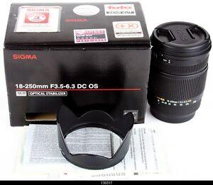Sigma DC 18-250mm f/3.5-6.3 OS HSM DC Lens  Canon AF  Mint Box