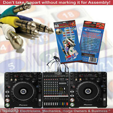 DJ Mixer Cable Identification Connection Decals - Musical Equipment Assembly ID
