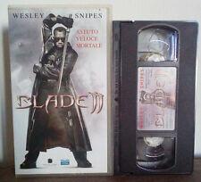 VHS FILM Ita Fantascienza BLADE II 2 wesley snipes del toro no dvd(VHS4)