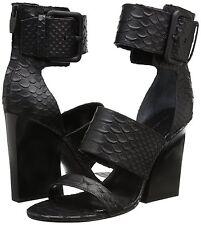 Sigerson Morrison Women's Poker2 Gladiator Sandal,Moc Croc Black Size 7.5   $450