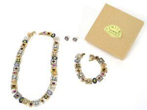 Holly Yashi Romance Necklace Bracelet & Earrings Limited Edition Set Signed