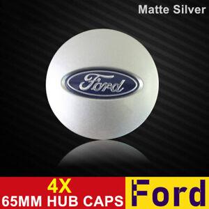 4X Hub Caps Wheel Centre Caps Car Rim Emblem Badge Cover 65MM Silver Fits Ford