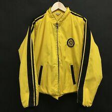"""Vintage Mens 3XL 1960s YAMAHA Fleece Lined Full Zip Jacket Yellow XXXL 54"""" /h"""