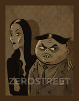 Morticia Gomez The Addams Family Print Illustration Halloween Spooky Monsters