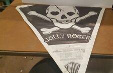 VINTAGE 1960S JOLLY ROGER PAPER TOP FLITE KITE Skull Cross Bones Pirate
