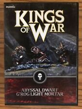 Kings of War Abyssal Dwarf G'rog Light Mortar