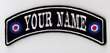 YOUR NAME MOD TARGET SMALL PERSONALISED ROCKER PATCH SCOOTER BUY 5 PAY FOR 4!!