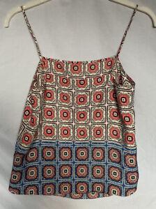 Cute Vintage Topshop Strappy Swing Handkerchief Style Ladies Boho Top Size 10 UK