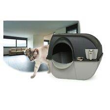 Litter Box Cat Omega Paw Large Elite Self-Cleaning Midnight Black Brand New