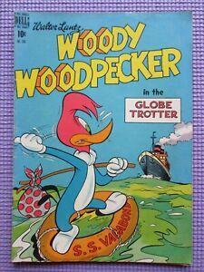 1949 WOODY WOODPECKER # 249 DELL FOUR COLOR Globe Trotter Lantz Golden Age  7.0