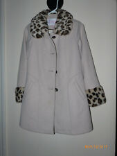 Winter coat,Girls Jessica Simpson,Large,size 14,Beige,with fake fur animal print
