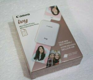 Canon Ivy Mini Photo Printer White + Rose Gold NEW Sealed