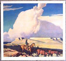 "Open Range by Maynard Dixon 27"" X 25"" Western Art Print"