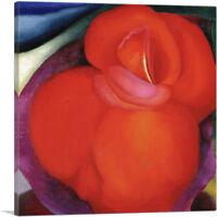 ARTCANVAS Red Flower 1919 Canvas Art Print by Georgia O-Keeffe