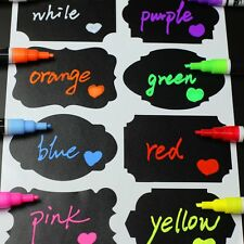 1 X SILVER Neon Fluorescent Liquid Glass Chalk Marker Pen Blackboard Glass Menu