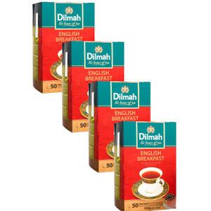 Dilmah English Breakfast Pure Ceylon tea  50 Tea bags 100g(3.5oz) 4 Packs