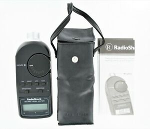 Radio Shack Digital Sound Level Meter Tester 33-2055 with Case & Manual