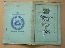 Notice d'Entretien Auto BUICK MASTER SIX 1925 car Brochure Prospekt Book