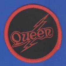 Queen Freddie Mercury flash vintage 1970s SEW-ON PATCH - WHITE border