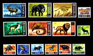 KENYA - Scott 20//35 No 28 & 31 - 1966-1969 Wildlife Animals - MNH