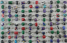 Wholesale Mixed Lots 7pcs Fashion Jewelry Charm Natural Stone Women Lady's Rings
