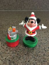 Vintage Disney Mickey Mouse in Santa Suit HO! HO! HO! Christmas Rubber Stamp