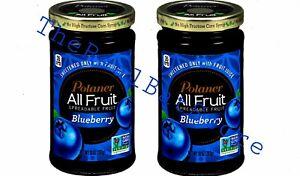 2 Polaner All Fruit Blueberry Spreadable Fruit 10 oz Jar
