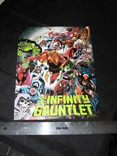ORIGINAL MARVEL INFINITY GAUNTLET PROMO FLYER 1991 NEVER SOLD GEORGE PEREZ